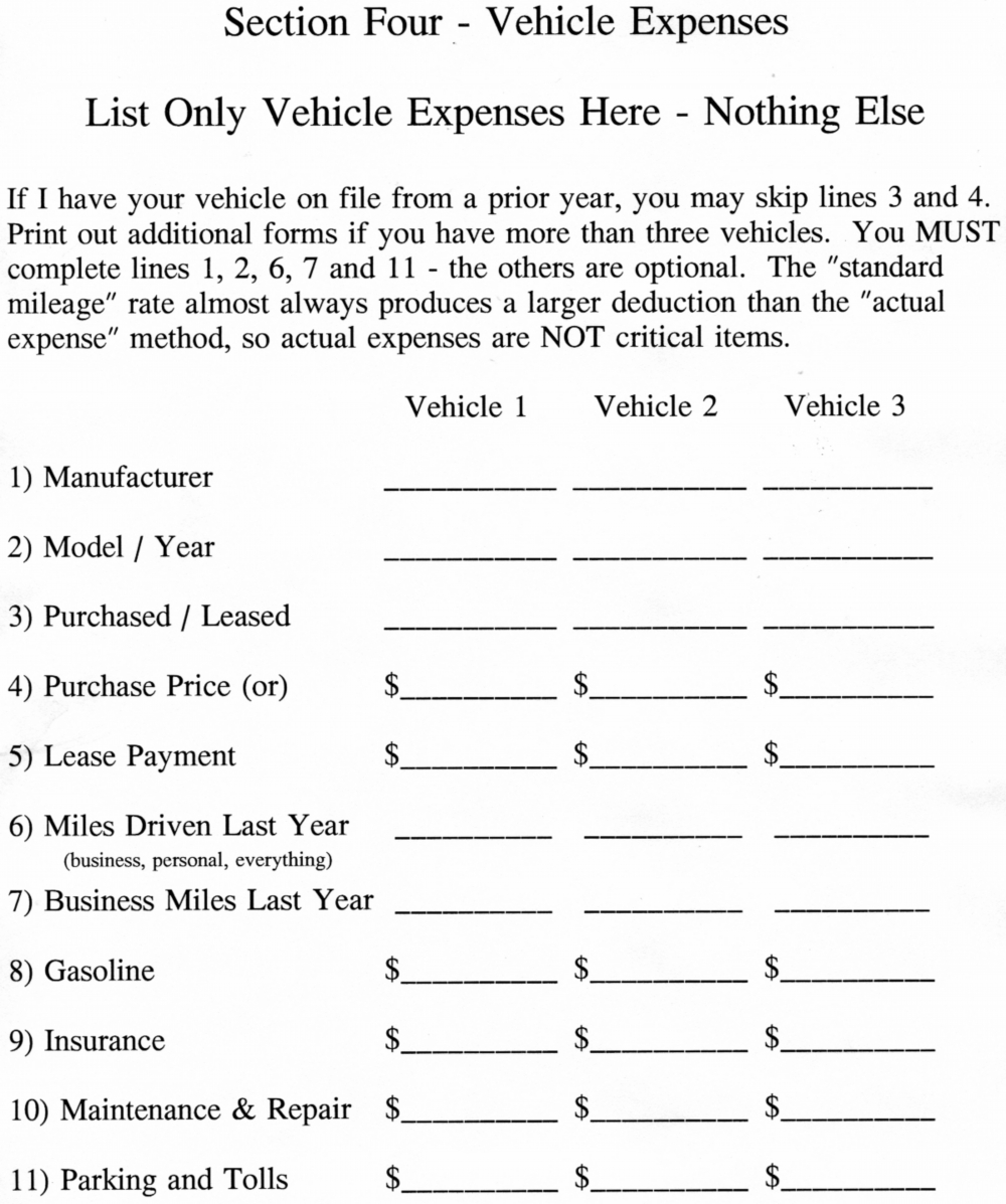 Printables Self Employment Income Worksheet questions vehicle expenses this worksheet is already included in the self employment income and work related listed above use stand alone form if a